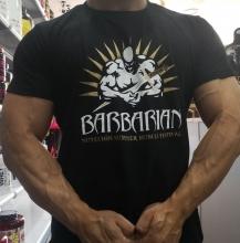 Camiseta Barbarian Manga Corta Negra