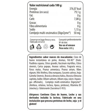 Egg Protein 400gr Proteín de Huevo