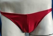 Slip Lycra Brillante Rojo Fantasía