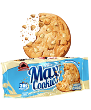 Max Protein Cookies con Pepitas de Chocolate Blanco pack de 4 galletas